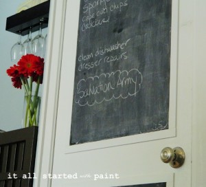 chalkboard door: from builder grade to a+