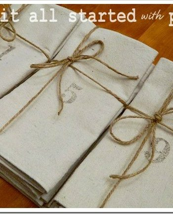 numbered napkins to help you keep track of your holiday guests …