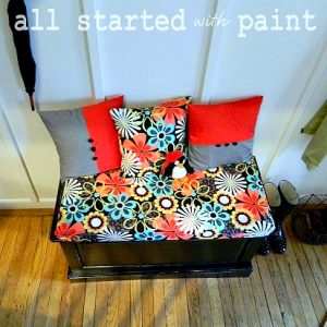 entry renovation: bench makeover