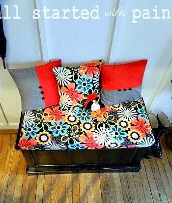black painted bench furniture