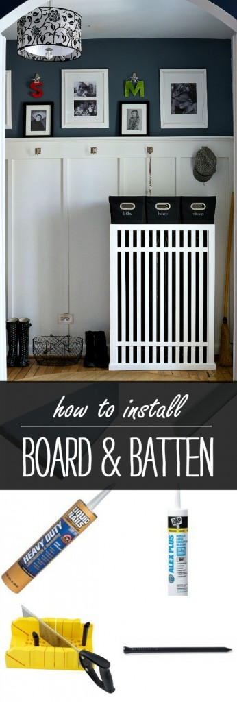 Board and Batten Wall Treatment in Entry