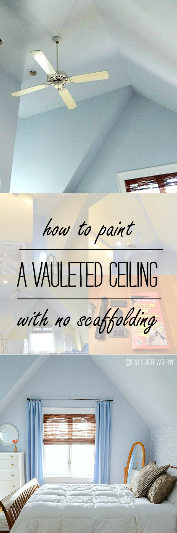 Paint A Vaulted Ceiling With No Scaffolding Needed