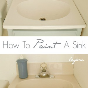 paint bathroom sink