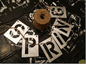 vintage-metal-letter-diy-with-paint-stencils