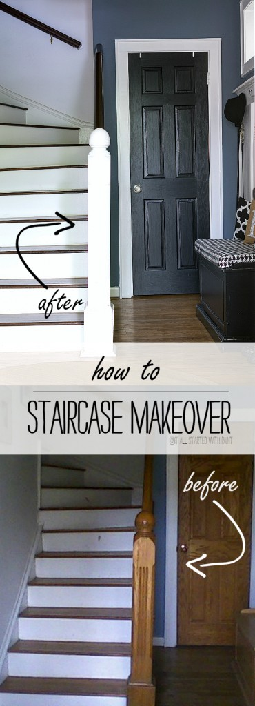How To Strip, Stain, DIY Staircase Makeover