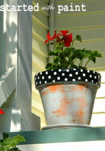painted-planters-polka-dots
