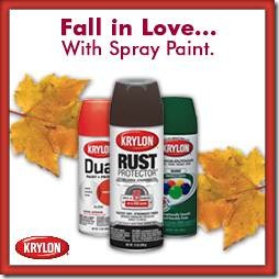 Fall in Love with Spray Paint Party Button
