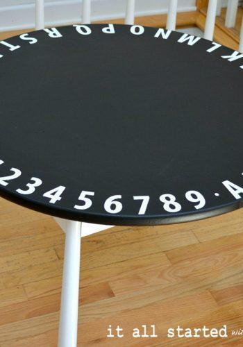 chalkboard-child-table