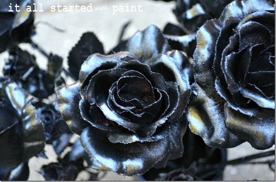 fake-flowers-spray-painted-black-for-halloween-close-up