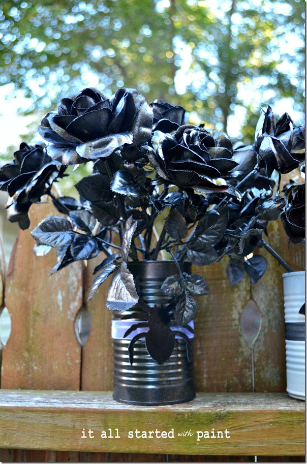 fake-flowers-spray-painted-black-for-halloween
