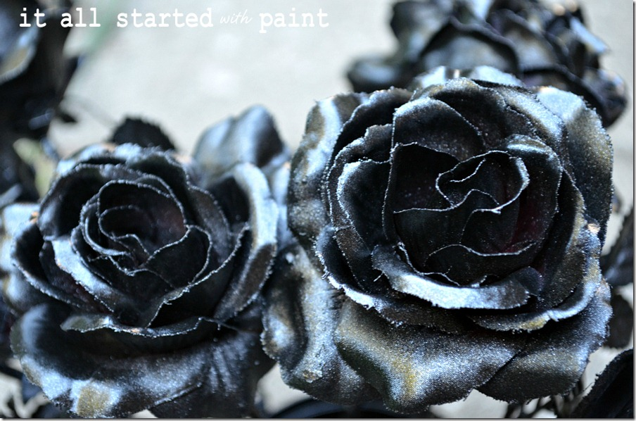 fake-flowers-spray-painted