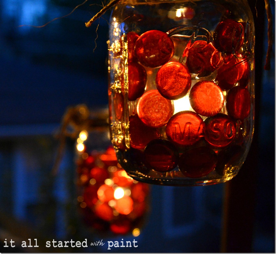 fall votive idea with mason jar