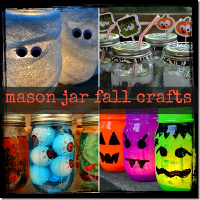 Mason Jar Fall and Halloween Crafts Mummies Cups Eyeballs and Votives