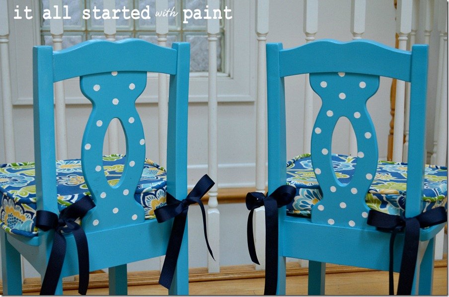 turquoise-and-polka-dot-chair