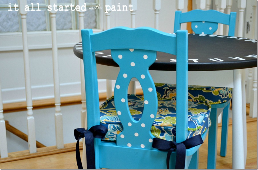 turquoise-chair-and-chalkboard-table