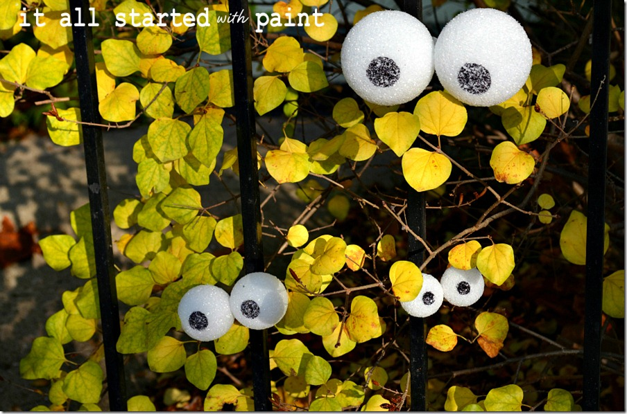 eyes-on-fence-styrofoam-and-sharpie