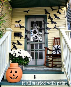 halloween door decorating idea