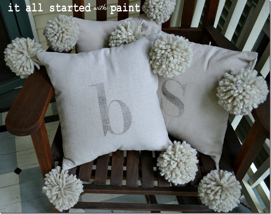 monogram_pom_pillow_drop_cloth
