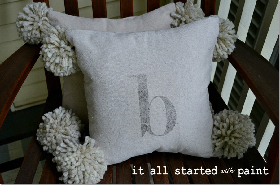 monogram_pom_pillow_from_dropcloth