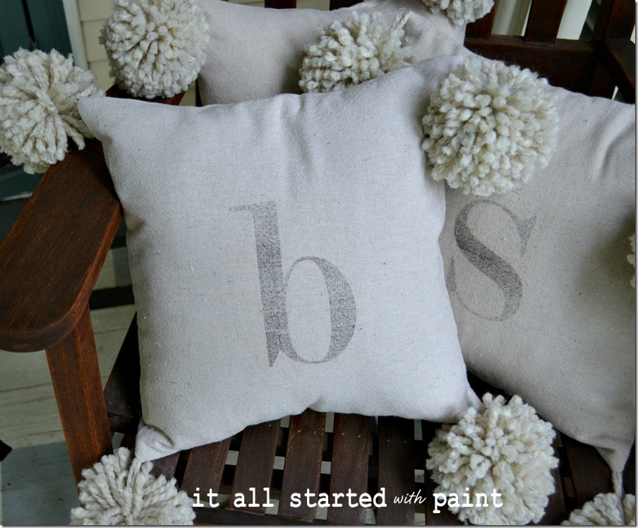 monogram_pom_pom_pillow_from_drop_cloth