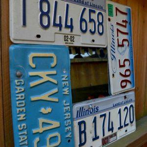 license plate mirror