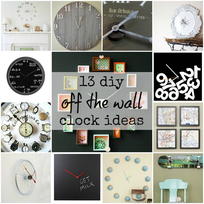 13 Diy Off The Wall Wall Clock Ideas It All Started With Paint