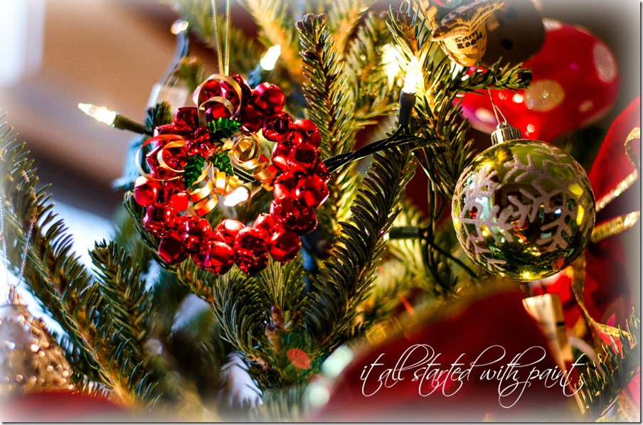 Christmas Tree jingle bell ornament