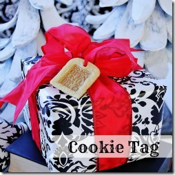 Holiday Gift Wrap Ideas Cookie Tag Thistlewood Farms
