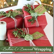 Holiday gift wrap boxwood and button finding home[6]