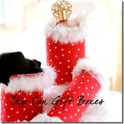 Holiday gift wrap chip can gift boxes top this top that
