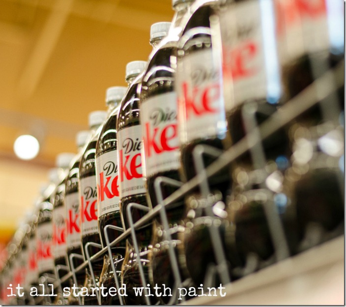 diet coke in grocery store