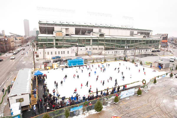 ice skating at wrigley … a post from my husband mike