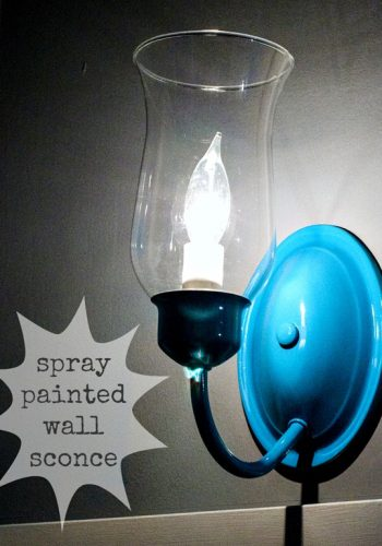 Sprucing the sconces with spray paint