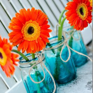 Blue Mason Jars … Vintage Look Blue Tinted Mason Jars