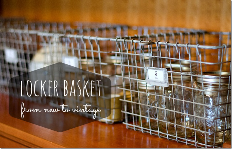 New Locker Baskets Turned Vintage