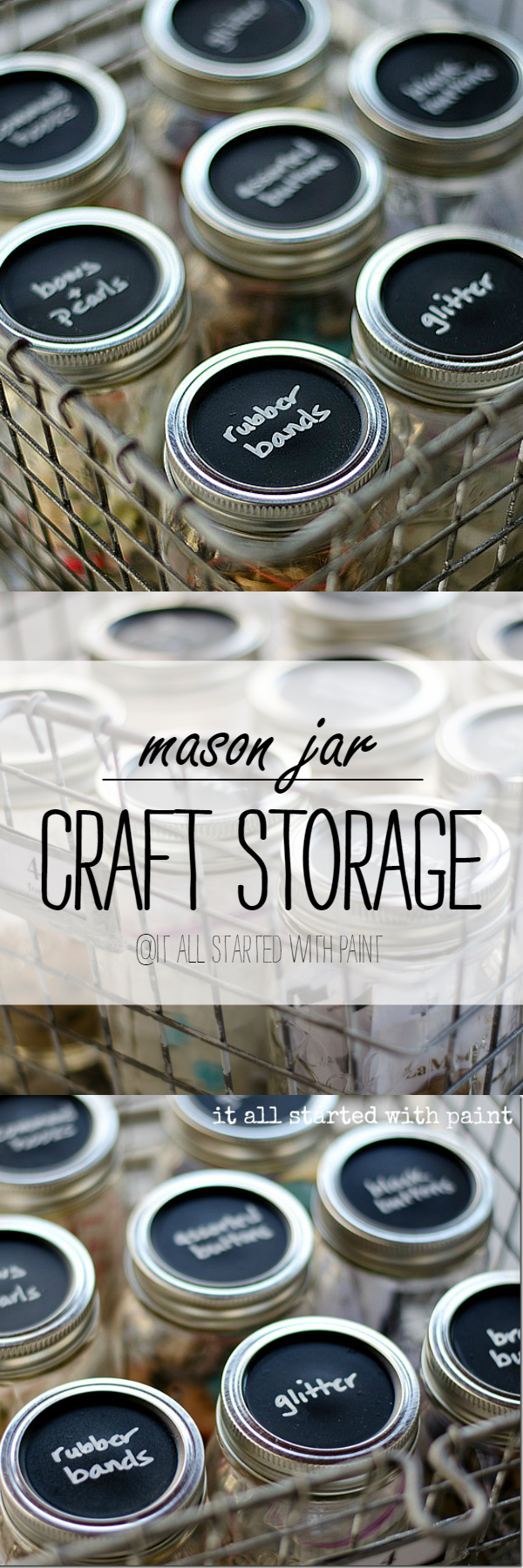 Mason Jar Craft Ideas with Chalkboard Paint