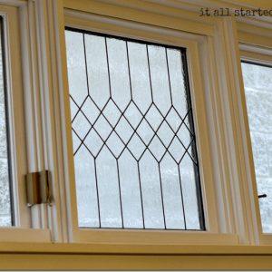 faux leaded glass window