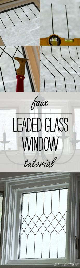 How To Make a Faux Leaded Glass Window