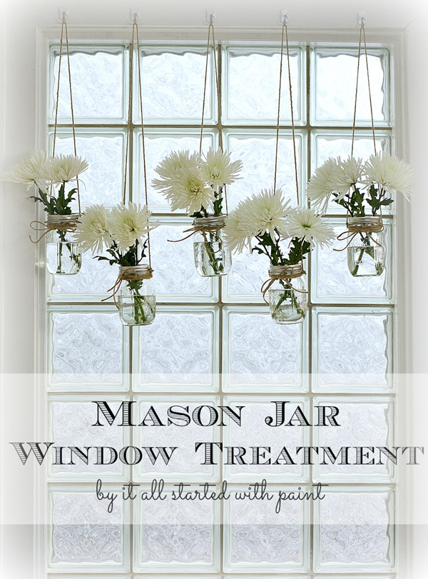 Mason Jar Window Treatment - Mason Jar Vases