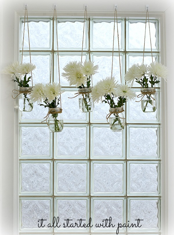 mason jar window treatment - it all started with paint