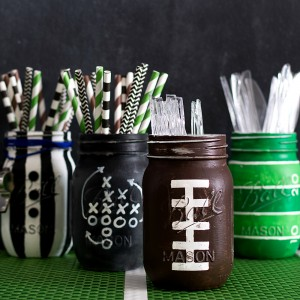 Mason Jar Crafts: Superbowl Party Ideas with Mason Jars