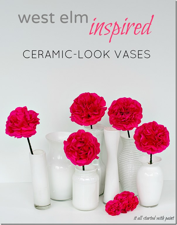 Ceramic-Look Vases