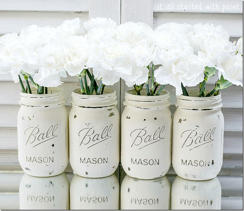 chalk paint mason jars Painted Mason Jars chalk paint mason jars