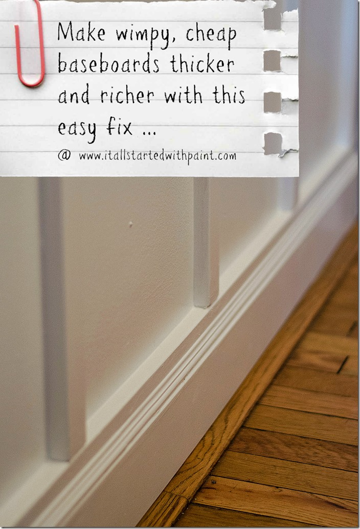Baseboard DIY How To Make Bigger