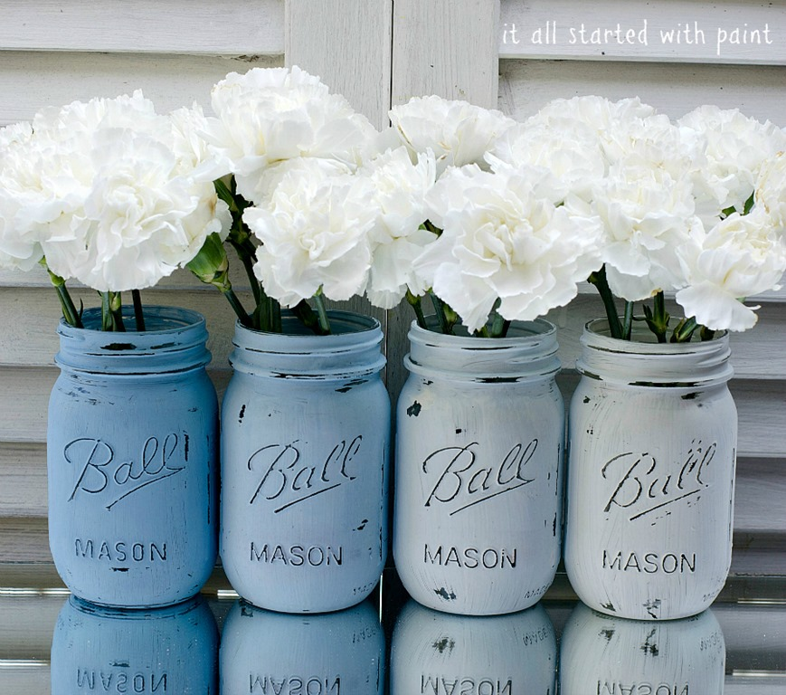 mason jars painted -#main