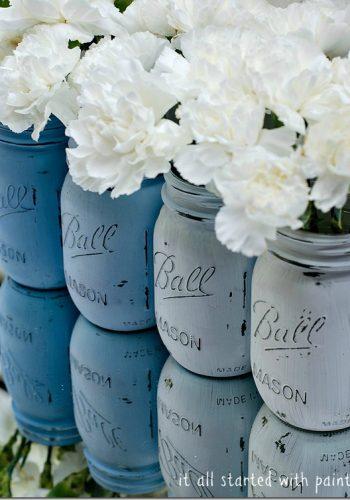 Ombre Mason Jars - Blue Ombre Mason Jar Craft