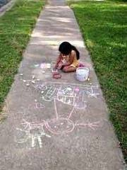 sidewalk-chalk-child-playing