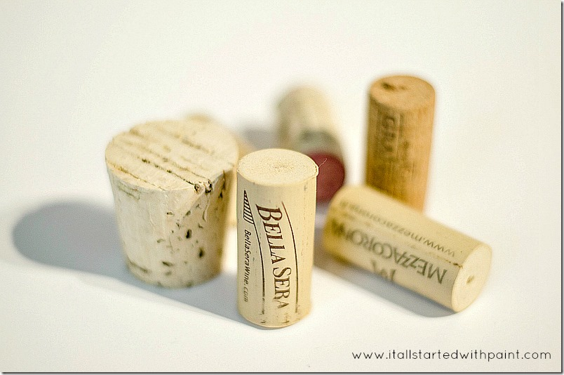 wine-cork-as-magnet-planter step 1