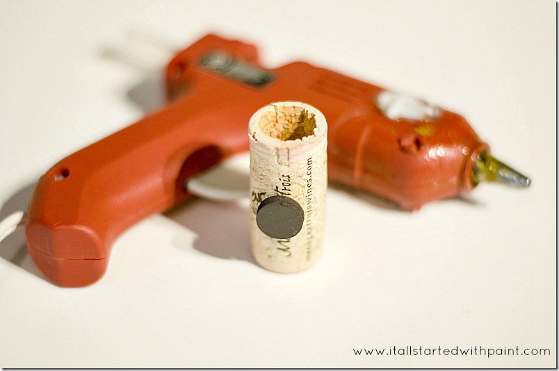 wine-cork-as-magnet-planter step 4