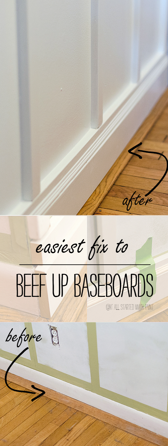 Baseboard Fix: Easy Way To Add Height and Bulk to Baseboards; No Crow Bars Needed!